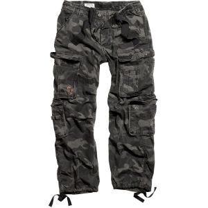 Pantalones Surplus Airborne Vintage en Black Camo