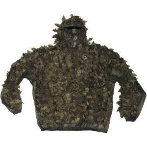 Traje de camuflaje MFH Leaves con hojas en Hunter Brown