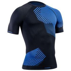 Camiseta de manga corta Tervel Optiline en negro / azul