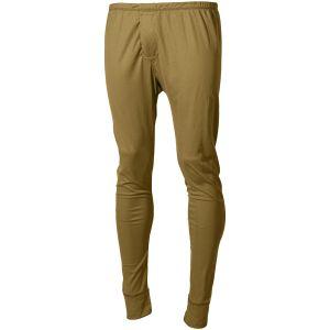 Pantalones interiores MFH US Level I Gen III en Coyote Tan