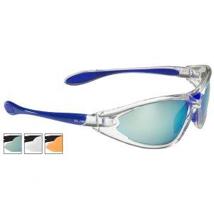 Gafas de sol Swiss Eye Constance con lentes ahumadas BR Revo + naranjas + transparentes y montura en Crystal Blue
