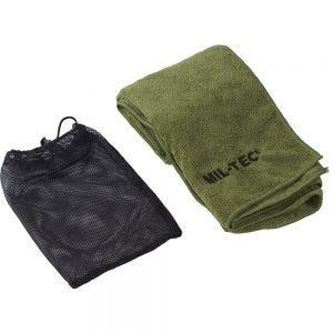 Toalla de microfibra Mil-Tec 80 x 40 cm en verde oliva