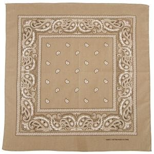 Bandana MFH de algodón en beige