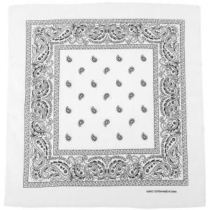 Bandana MFH de algodón en blanco