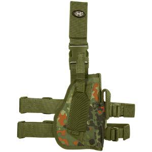 Funda de pistola para pierna derecha MFH en Flecktarn