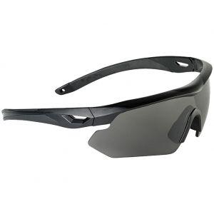 Gafas de sol Swiss Eye Nighthawk con lentes ahumadas + naranjas + transparentes y montura de goma en negro