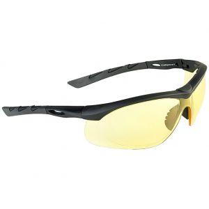 Gafas de sol Swiss Eye Lancer con lentes amarillas y montura de goma en negro