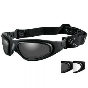 Gafas de protección Wiley X SG-1 con lentes ahumadas grises + transparentes y montura en negro mate