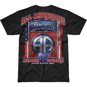 Camiseta 7.62 Design Army 82nd Airborne All Americans Battlespace en negro
