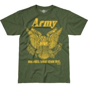 Camiseta 7.62 Design Army Retro Battlespace en Military Green