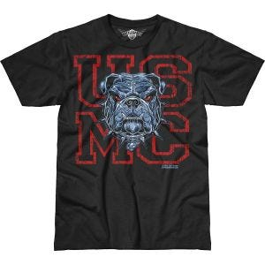 Camiseta 7.62 Design USMC Dress Blue Bulldog Battlespace en negro