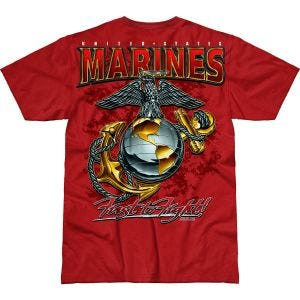 Camiseta 7.62 Design USMC Eagle, Globe & Anchor Battlespace en Scarlet