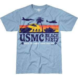 Camiseta 7.62 Design USMC Beach Party Battlespace en Sky Blue