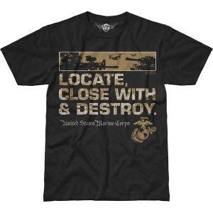 Camiseta 7.62 Design USMC Locate Battlespace en negro
