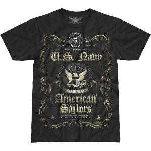 Camiseta 7.62 Design USN Fighting Spirit Battlespace en negro