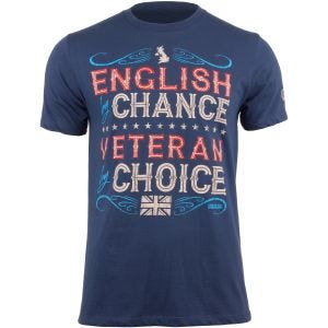 Camiseta 7.62 Design Veteran By Choice English en Indigo Blue
