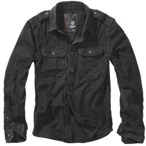 Brandit Vintage Shirt Long Sleeve Black