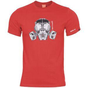 Camiseta Pentagon Ageron Gas Mask en Lava Red