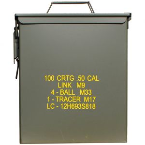 Caja de munición de calibre ,50 Mil-Tec M9 en verde oliva