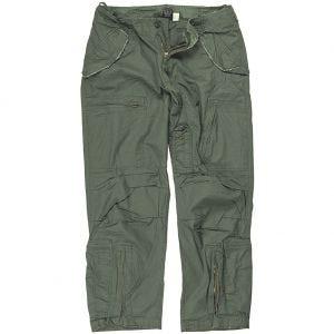 Pantalones prelavados de piloto Mil-Tec de popelín de algodón en verde oliva