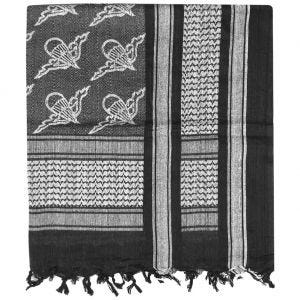Mil-Tec Shemagh Scarf Paratrooper Black / White