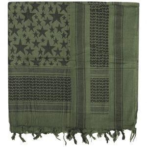 Mil-Tec Shemagh Scarf Stars Olive / Black