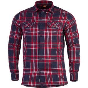 Pentagon Drifter Flannel Shirt Long Sleeve Red Checks