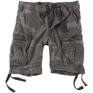 Pantalones cortos Surplus Airborne Vintage lavados a la piedra en Black Camo