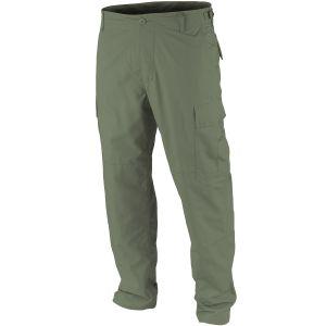 Pantalones Teesar BDU de Ripstop prelavado en verde oliva