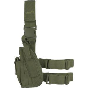 Funda táctica de pistola para pierna Viper para zurdos en verde