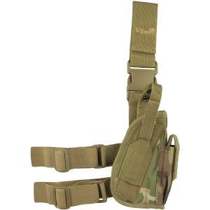 Funda táctica de pistola para pierna Viper para diestros en V-Cam