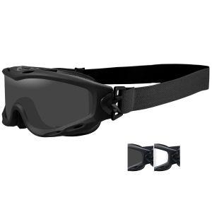 Gafas de protección Wiley X Spear con lentes ahumadas grises + transparentes y montura en negro mate