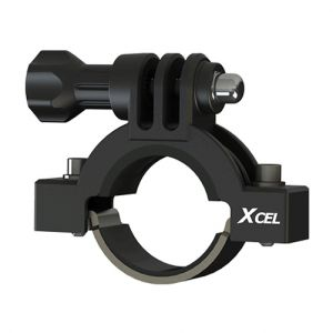 Soporte para cámara de acción Xcel diámetro de 2,3 a 3,5 cm en negro