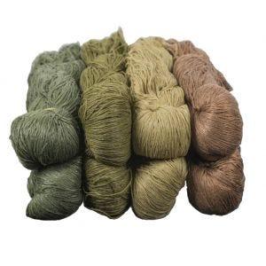 Madejas de lana de fibra Helikon Ghillie para camuflaje en US Woodland