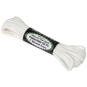 Atwood Rope 50ft 550 Glow In The Dark Paracord White