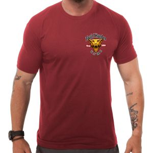 Camiseta 7.62 Design USMC Devil Dog en rojo