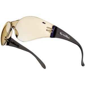 Gafas Bolle Bandido con base transparente, lentes Blue Mirror y montura marrón