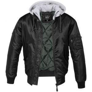 Chaqueta con acolchado y capucha Brandit MA1 en negro / gris