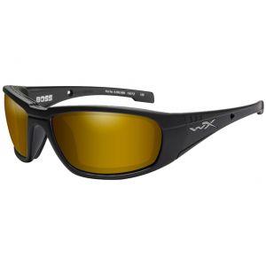 Gafas Wiley X WX Boss con lentes polarizadas en Venice Gold espejado y montura en negro mate