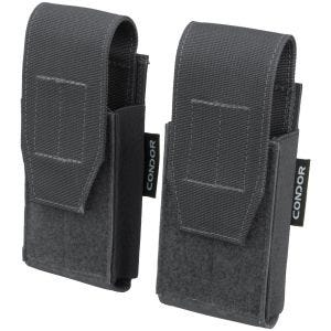 Condor QD Pistol Mag Pouch 2 Pack Slate