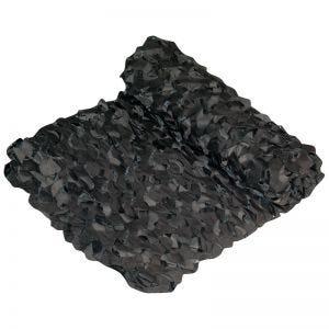 Red de camuflaje Camosystems Netting Crazy Camo en negro / gris oscuro de 6 x 2,4 m