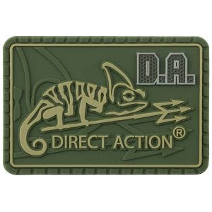 Parche con logo de Direct Action de tamaño mediano en Olive Green