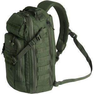 Mochila First Tactical con correa bandolera en OD Green