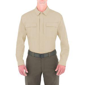 Camiseta de manga larga para hombre BDU First Tactical Tactix en caqui