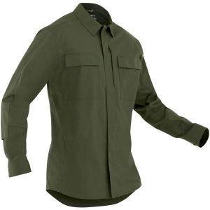 Camiseta de manga larga para hombre BDU First Tactical Tactix en OD Green