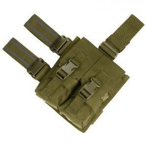 Portacargador doble para la pierna Flyye M4/M16 con sistema MOLLE en Coyote Brown