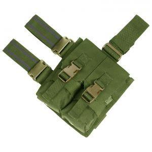 Portacargador doble para la pierna Flyye M4/M16 con sistema MOLLE en Olive Drab