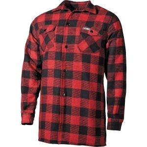 Camisa Fox Outdoor Lumberjack a cuadros en rojo / negro