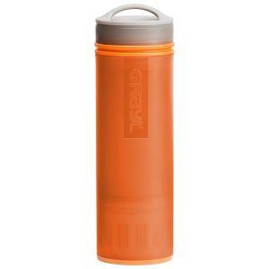 Botella purificadora de agua GRAYL Ultralight y filtro en naranja