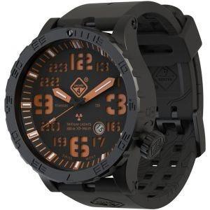 Reloj de titanio con tritio Hazard 4 Heavy Water Diver en Agent Orange y detalles en verde y amarillo